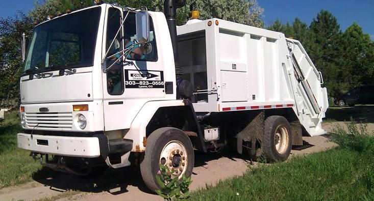 Trash Truck One Way Trash Colorado